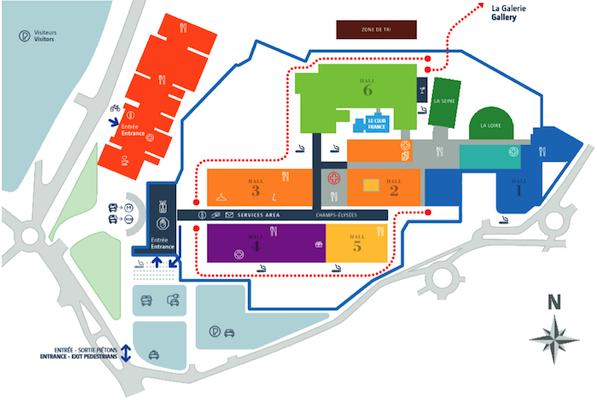 COP21 site map, venue was almost 1 km square in size.