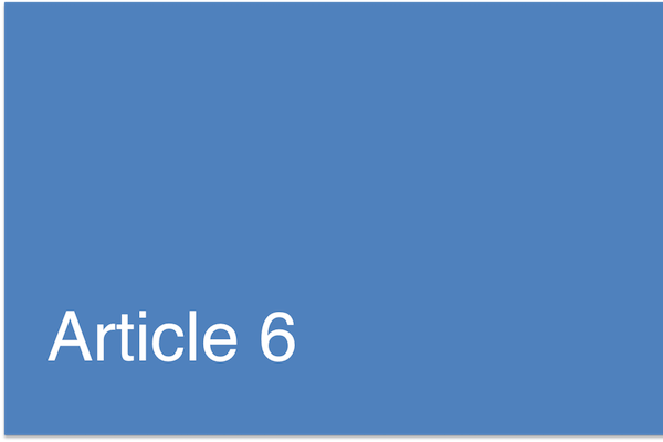 Article 6 Paris Agreement